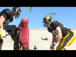Iowa's offensive and defensive line coaches are looking for more consistency in 2013.