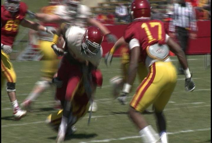 DeVondrick Nealy rushed for 142 yards in the ISU's Spring Game