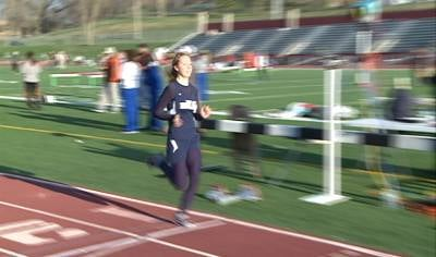Bishop Heelan's Lindsay Joyce won the 800 and 1500 meter runs at the MRAC meet on Thursday.