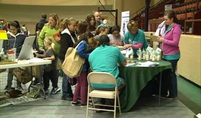 About 850 people came out to the Long Lines Rec Center for a health and safety fair Saturday.