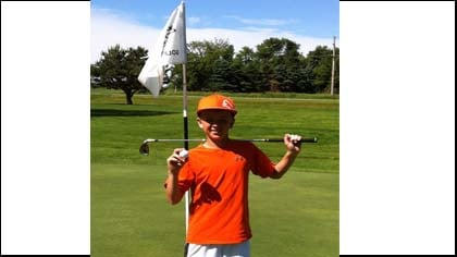 13-year-old Tyler Merley of Sheldon, IA shot a hole-in-one while golfing at the Sibley Municipal Golf Course.
