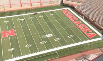 New field turf has been installed at Nebraska's Memorial Stadium.