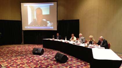 IRGC Chair Jeff Lamberti joins the meeting via Skype.