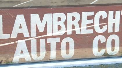 Posters, tires, signs, and Lambrecht Chevrolet memorabilia will be some of the first things on the auction block.