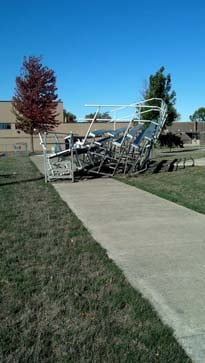 Alta, Iowa High School damage.