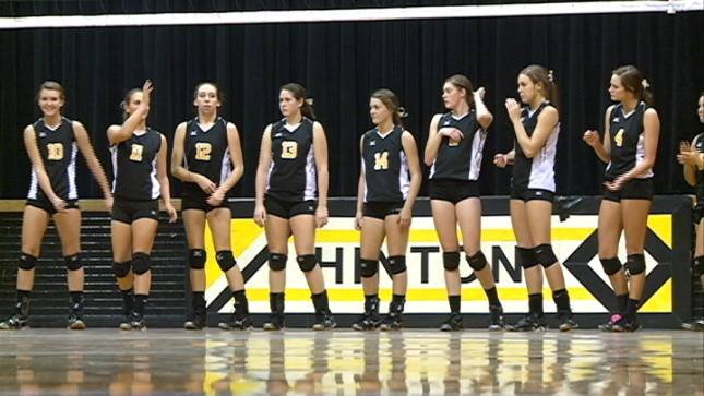 Eighth-ranked Hinton swept Akron-Westfield 3-0 on Tuesday night in Hinton, Iowa.