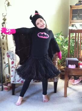 Here is Aurora Happe as Batgirl.