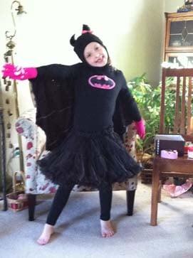 Here is Aurora Happe as Batgirl.