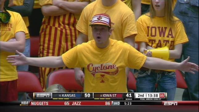 The Iowa State men's basketball team hasn't won at Kansas since 2005.