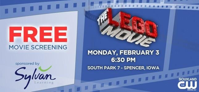 FREE Movie Screening - The Lego Movie