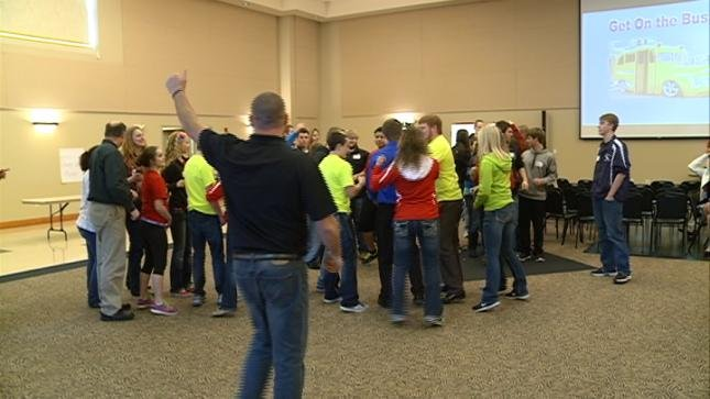 Students from seven schools in the War Eagle conference took part in Friday's summit.