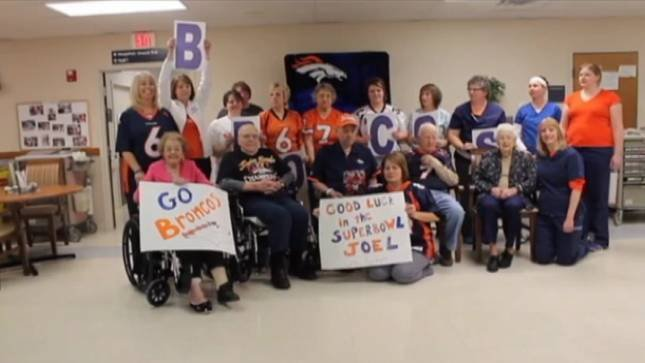 Manning,Iowa supporting Peyton in the Super Bowl