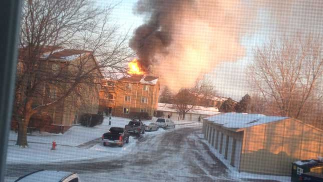 KTIV Sports Anchor Nick Filipowski took this photo from his apartment window.