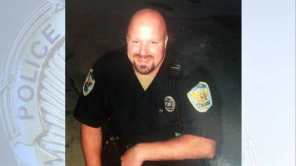 © Officer Jamie Buenting was shot during the standoff in Rockwell City,  IA