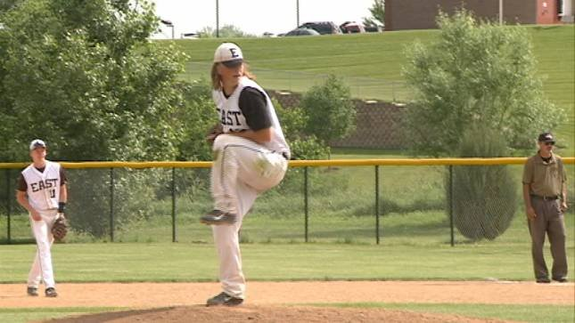 Davis Camarigg was the winning pitcher in East's 5-1 win over North on Thursday.