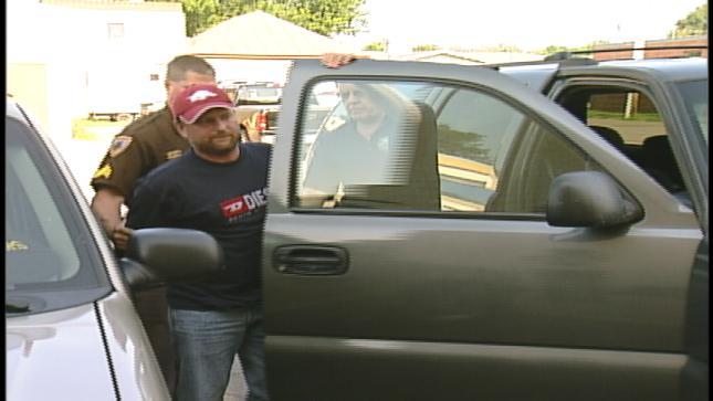 File photo of when James Strahl was arrested in Dakota County, Nebraska.