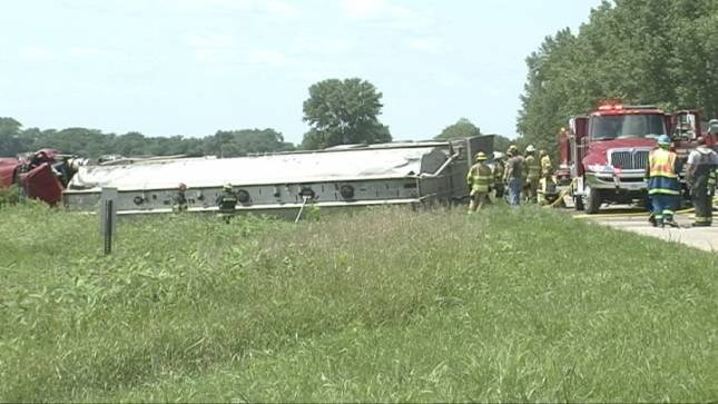 Pierce Fire and Rescue, Hadar Fire and Rescue and the Norfolk Hazmat team responded to the crash Wednesday afternoon