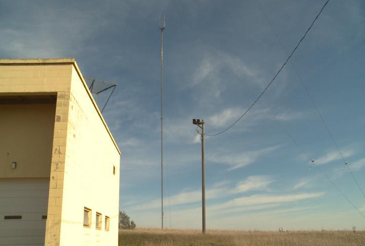 KTIV's TV tower near Hinton, Iowa.