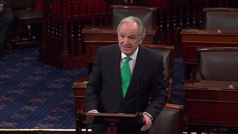 Archive photo: Senator Tom Harkin (D-IA) delivered his farewell address to the U.S. Senate after 40 years serving Iowans in Washington, D.C.