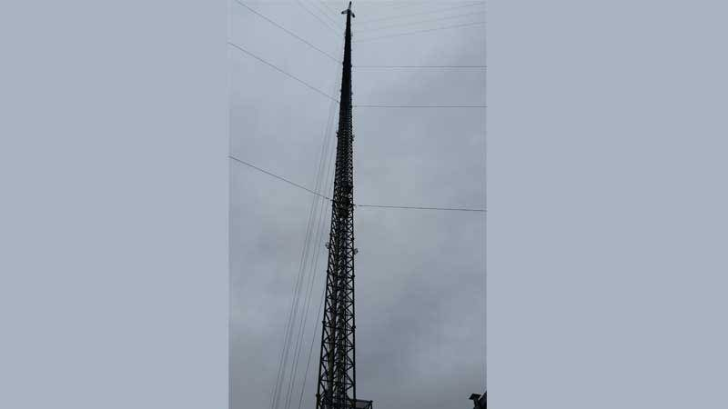 KTIV's 2,000 foot transmission tower.