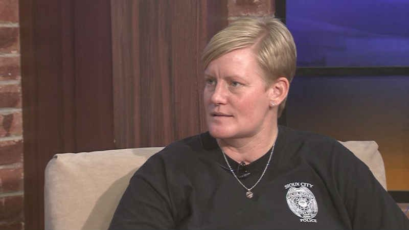 SCPD officer Jill Ohm is talking about her experience getting shot in the face in the line of duty.