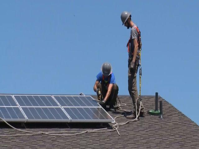 Solar energy gains ground.