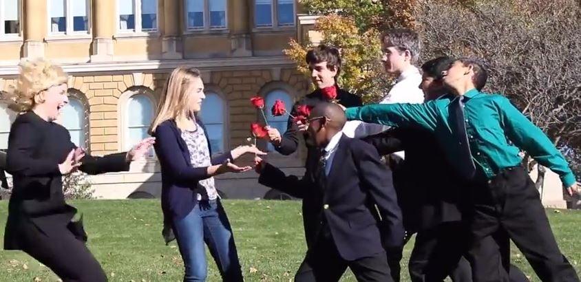 Courtesy: Dallas Center-Grimes High School students in Grimes, Iowa