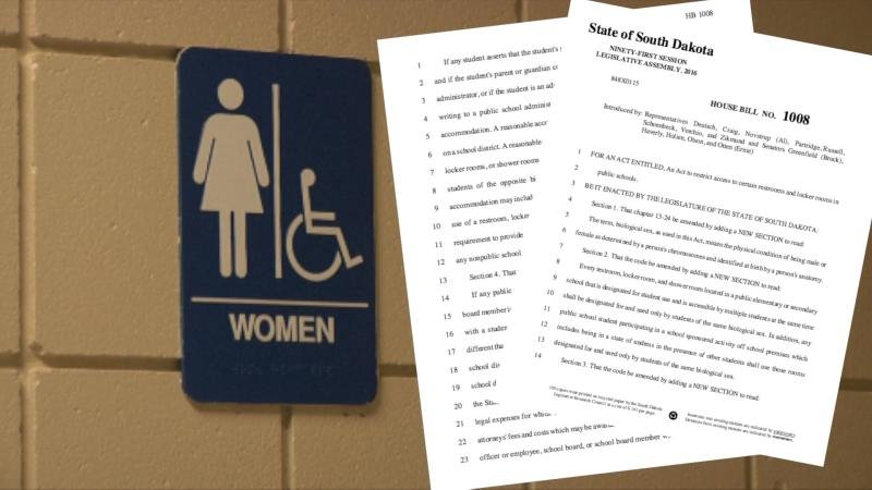 local reaction to south dakota transgender bathroom bill veto