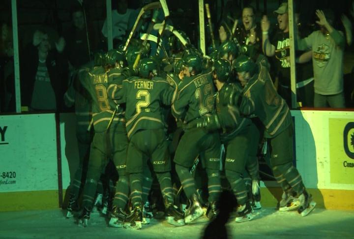 USHL: Musketeers Beat Chicago In OT To Win Clark Cup Finals Opener (video)