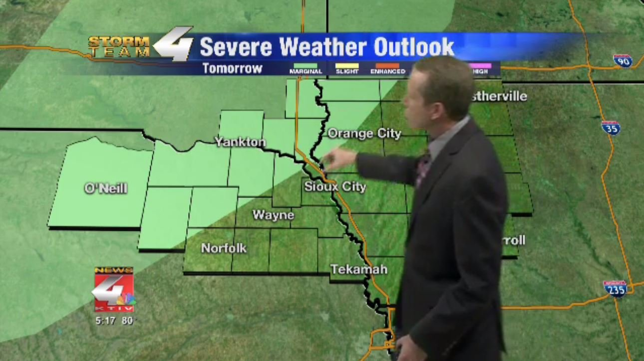 WEATHER KTIV News  Sioux City IA News Weather And Sports - Us weather map next 24 hours