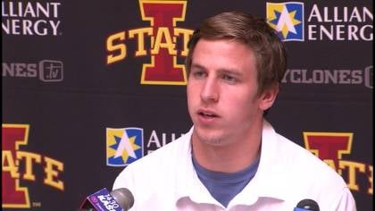 Iowa state in coaches 39 poll for first time in 10 years for Josh lenz