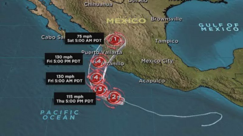 Hurricane Patricia strengthens to 200 mph making it the stronge