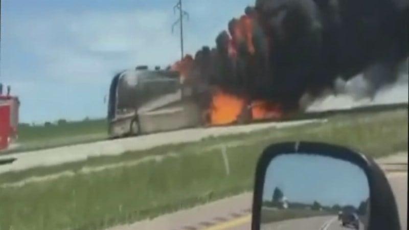 I-29 RV fire: Courtesy: Kalsey LaRae Bailey