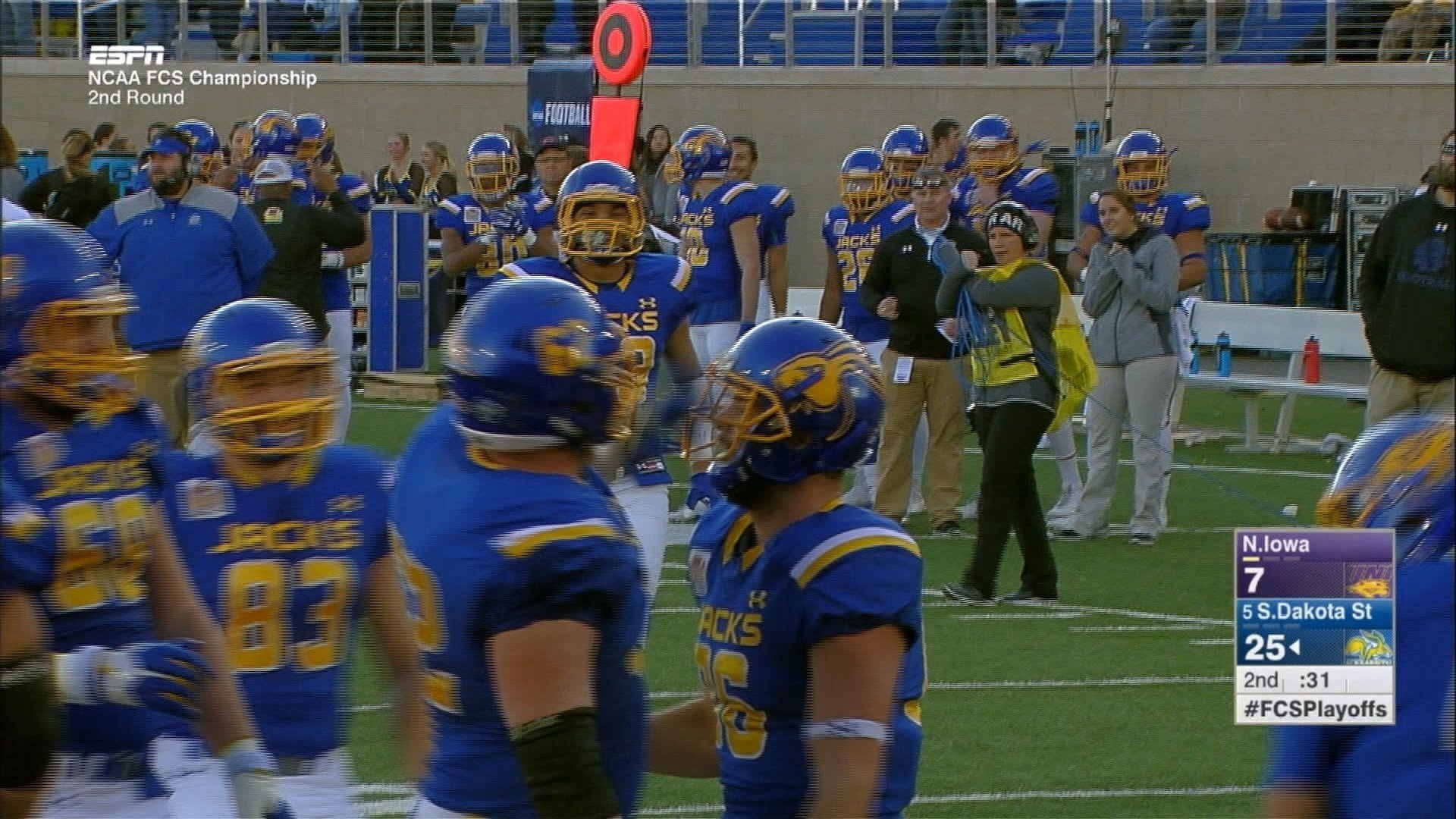SDSU beat UNI on Saturday, 37-22.